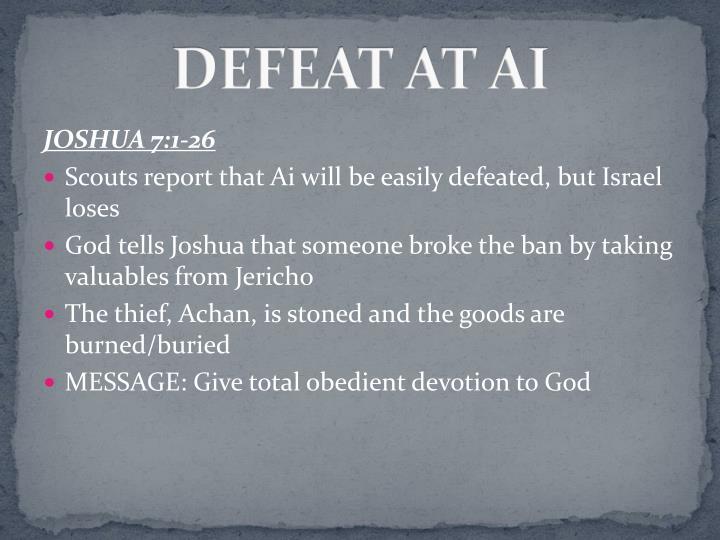 DEFEAT AT AI