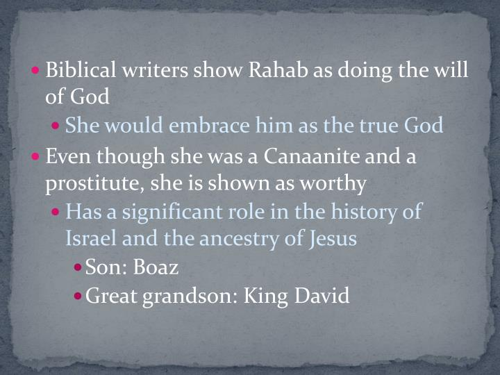 Biblical writers show