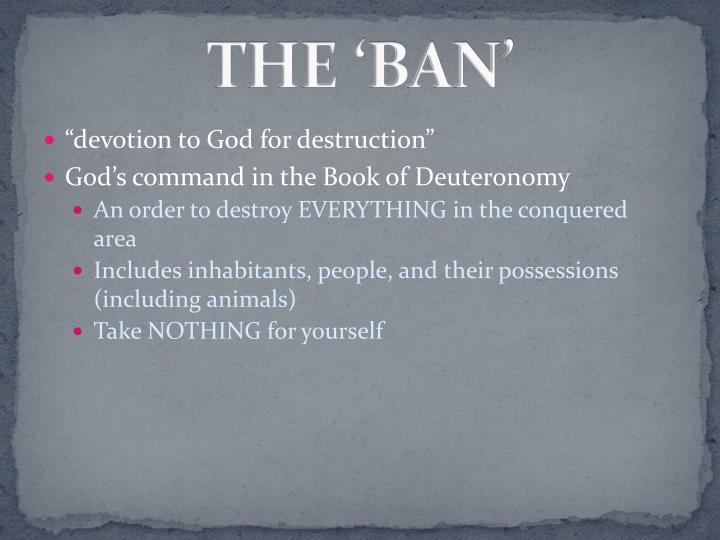THE 'BAN'