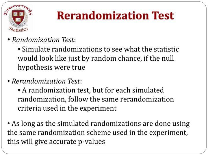 Rerandomization Test