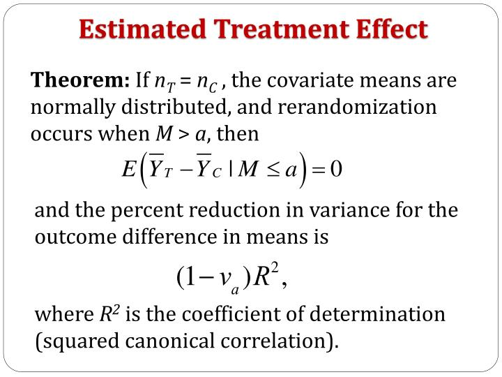 Estimated Treatment Effect