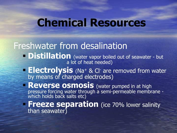 Chemical Resources