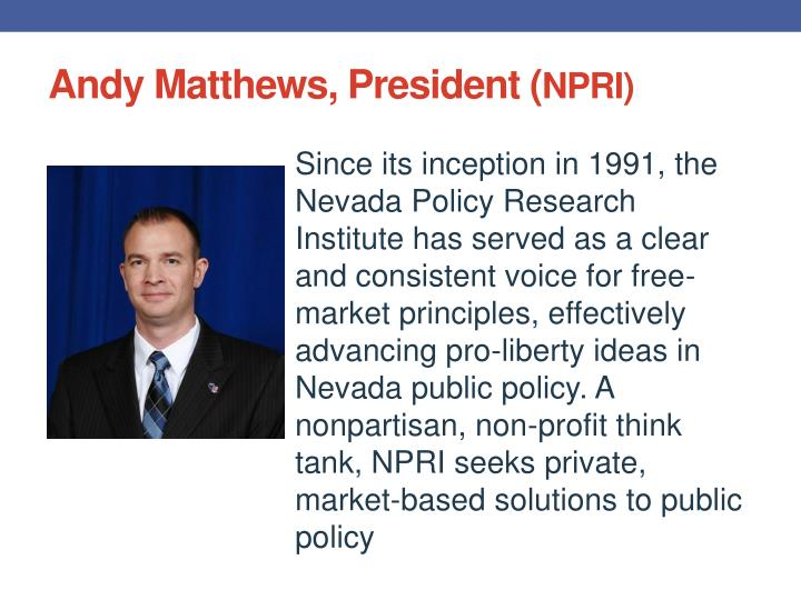 Andy Matthews, President (