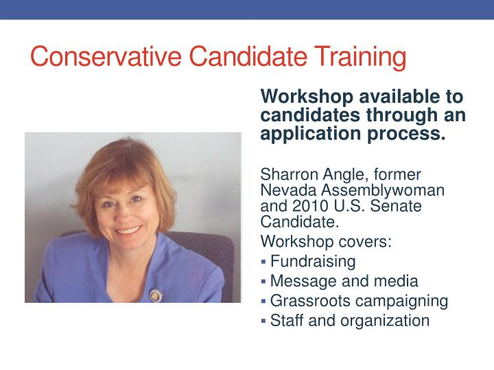 Conservative Candidate Training