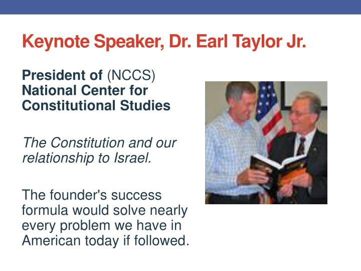 Keynote Speaker, Dr