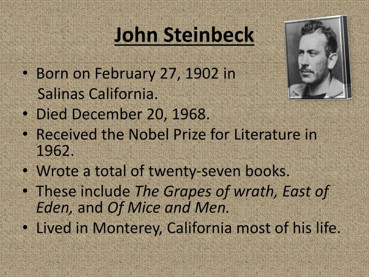 a descriptive analysis of the writing style of john steinbeck The pearl is a novella by american author john steinbeck steinbeck began writing the story as a movie the fleming & john song the pearl was based on this.