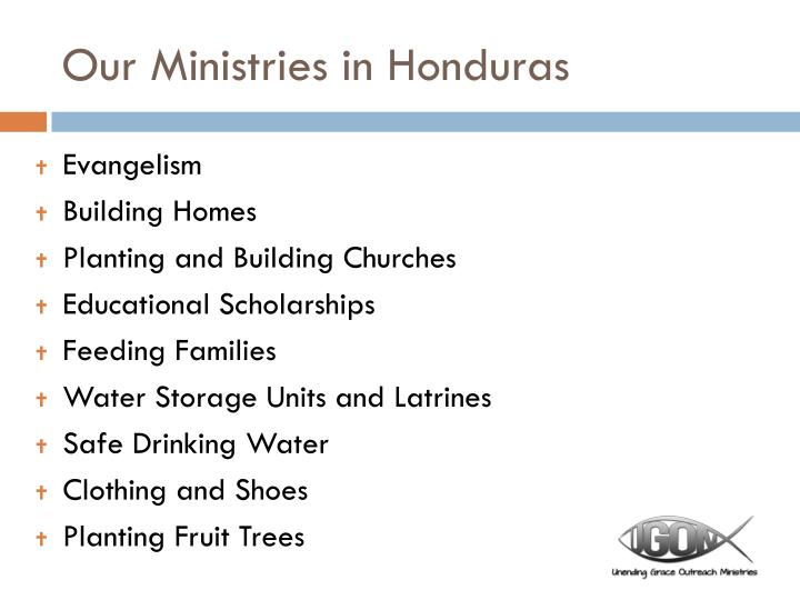 Our Ministries in Honduras