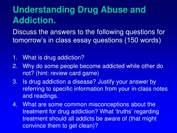 Understanding Drug Abuse and Addiction.