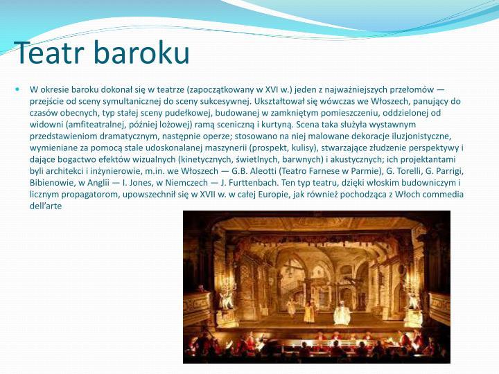 Teatr baroku