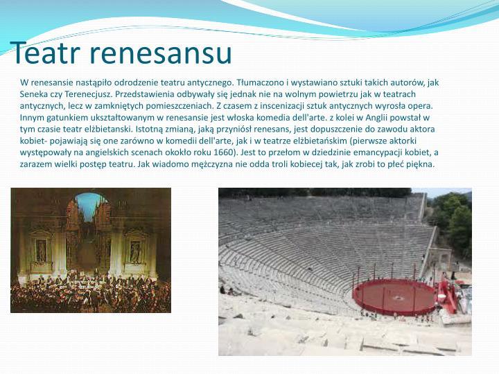 Teatr renesansu