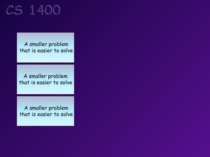 A smaller problem
