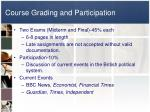 course grading and participation