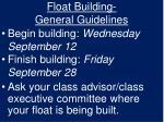 float building general guidelines