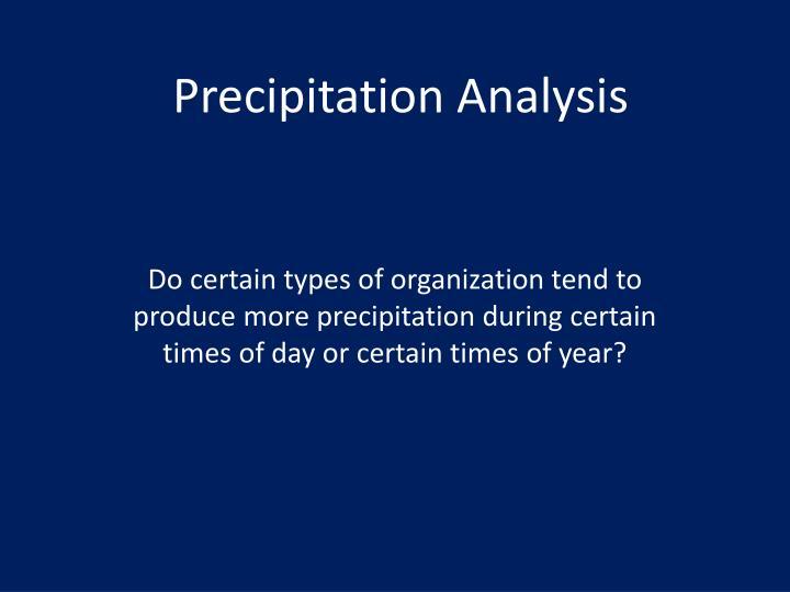 Precipitation Analysis