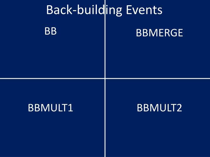 Back-building Events