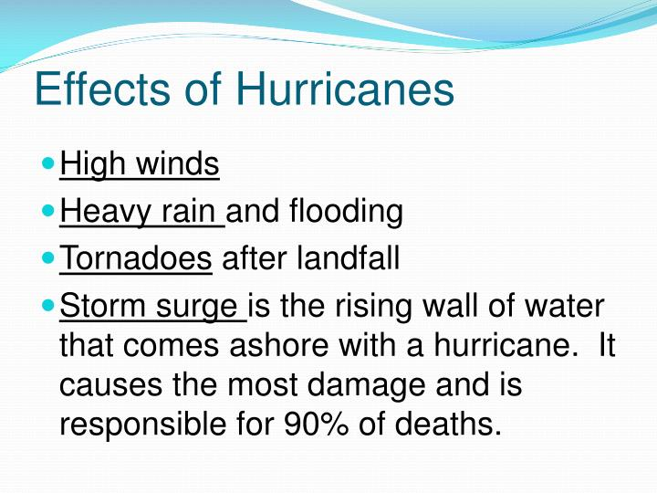 Effects of Hurricanes