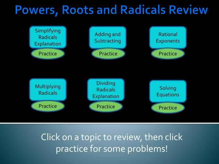 click on a topic to review then click practice for some problems n.