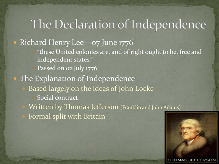 a description of the declaration of independence as a great successful document written by thomas je The declaration of independence was written in order to clarify and justify the actions of the second continental congress, which was to assume the powers of an offical governmentthe colonists.