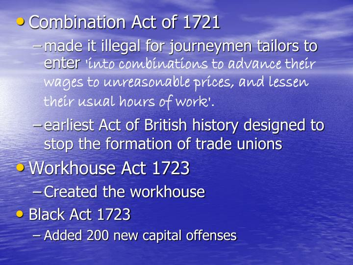 Combination Act of 1721