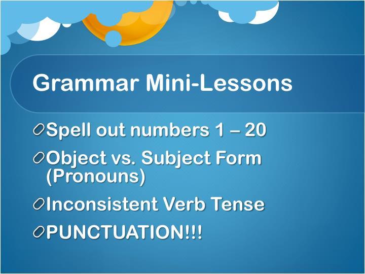 Grammar Mini-Lessons