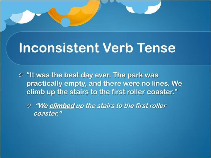 Inconsistent Verb Tense