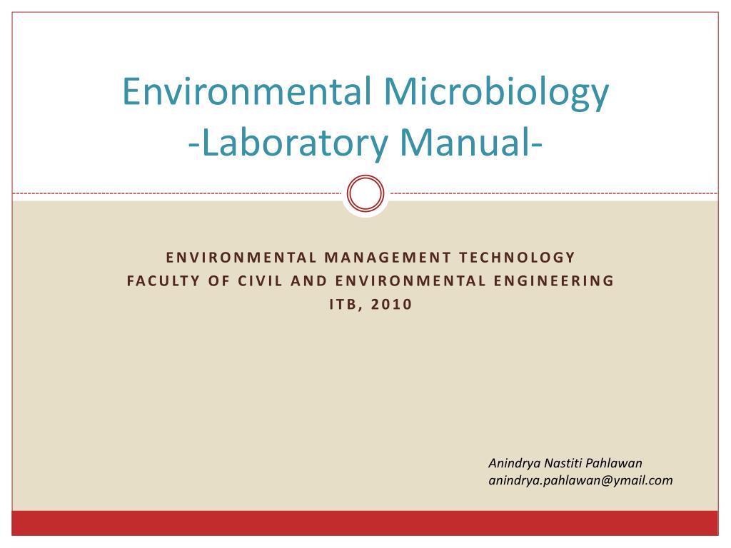 environmental microbiology laboratory manual n.