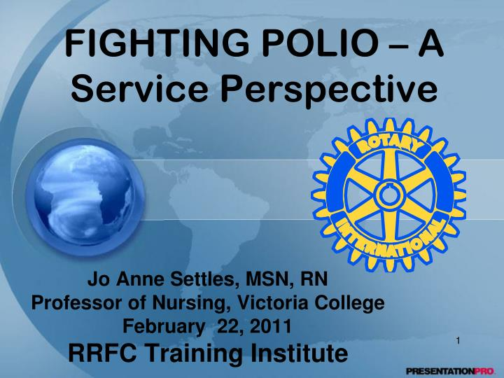 fighting polio a service perspective n.
