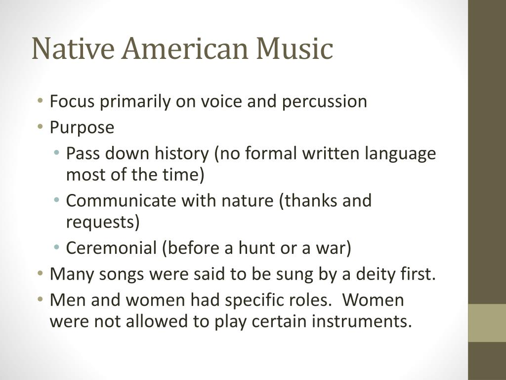 PPT - Native American and Colonial Music PowerPoint