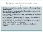 proposed new designation process
