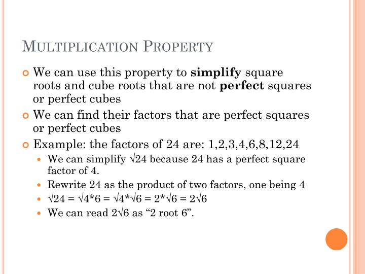 Multiplication Property