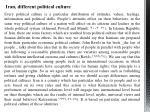 iran different political culture