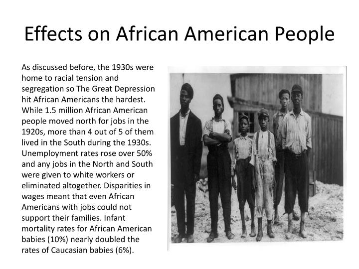 Effects on African American People