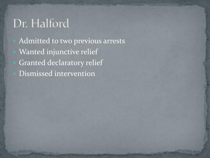 Dr. Halford