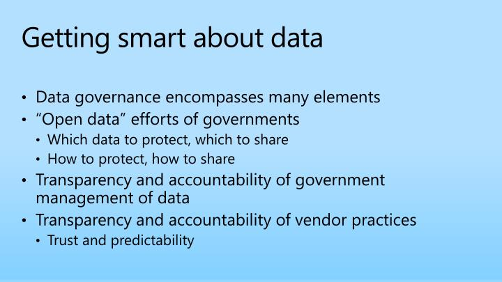 Getting smart about data