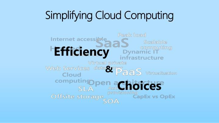 Simplifying cloud computing
