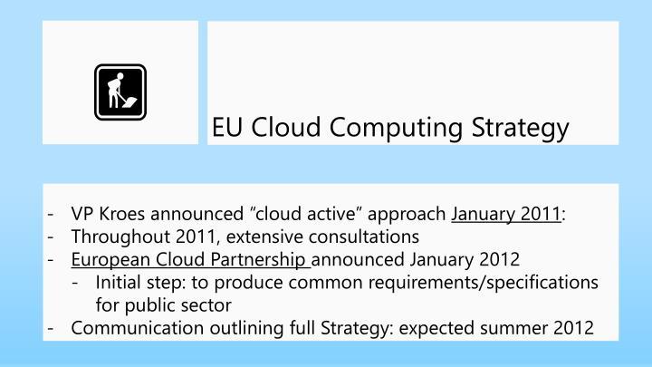 EU Cloud Computing Strategy