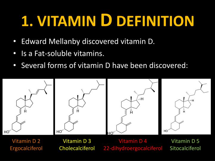 1 vitamin d definition