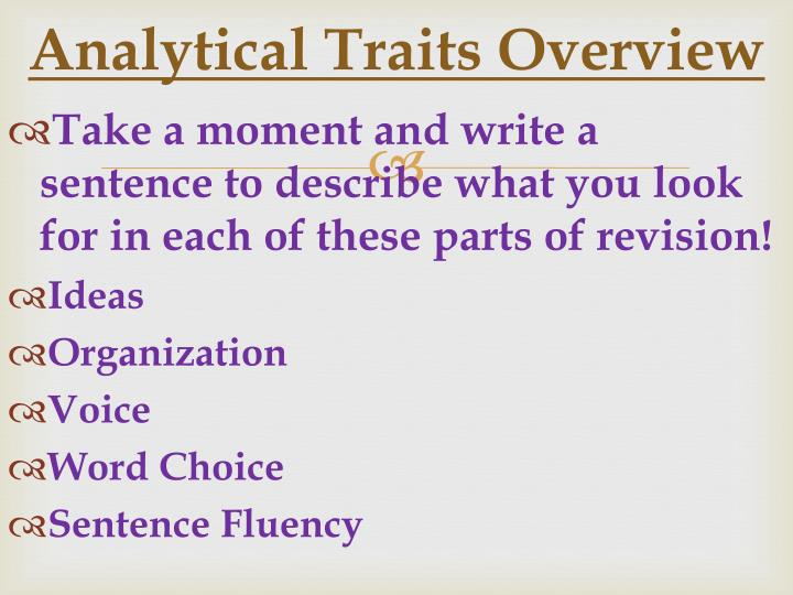 Analytical Traits Overview