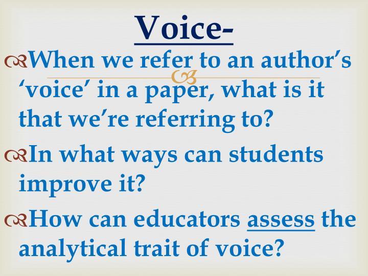 Voice-