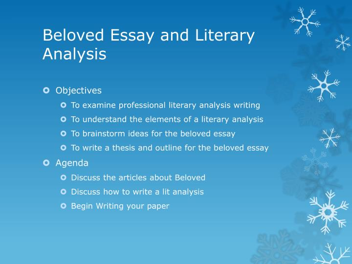 Beloved essay topics