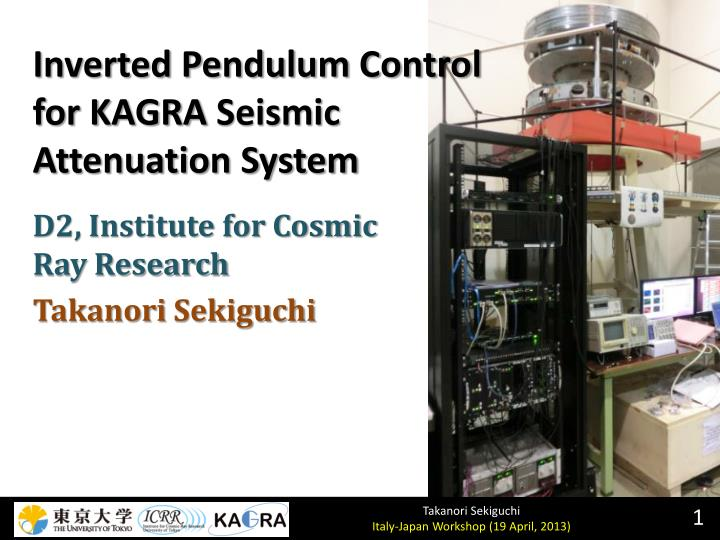 inverted pendulum control for kagra seismic attenuation system n.