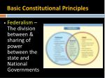 basic constitutional principles3