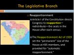 the legislative branch1