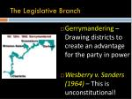 the legislative branch4