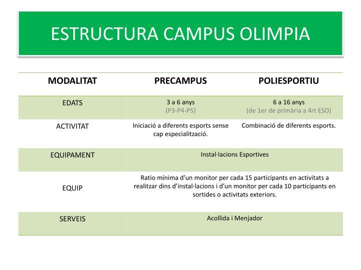 Estructura campus olimpia
