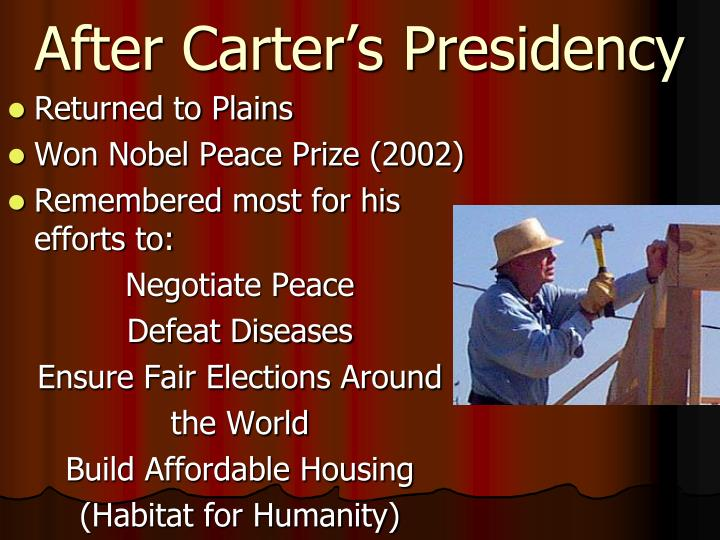 After Carter's Presidency