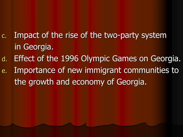 Impact of the rise of the two-party system