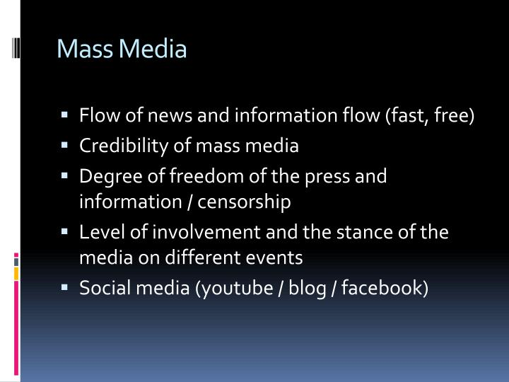 the evolution of the mass media The evolution of film distribution once again the internet has changed everything according to john vivian's the media of mass communication, the three components of movie industry structure are production, distribution and exhibition.