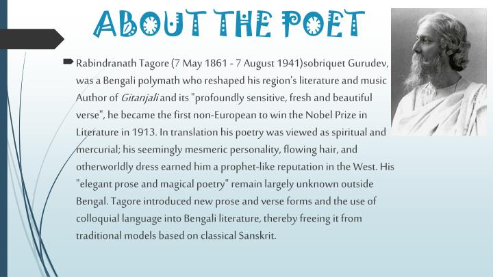 About the poet
