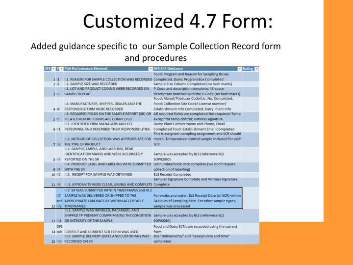 Customized 4.7 Form: